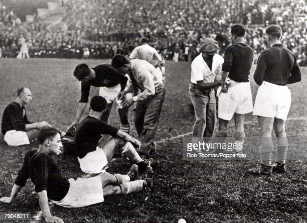 World Cup Final Rome Italy Italy 2 v Czechoslovakia 1 10th June The Czech team wait for extra time