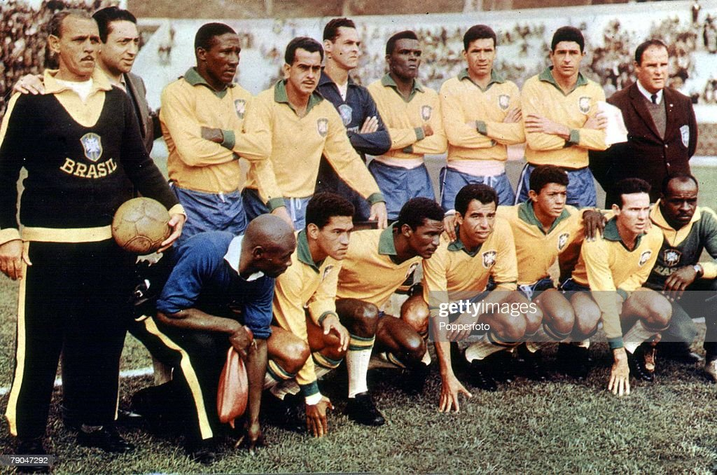 World Cup Final, 1962, Santiago, Chile. 17th June, 1962. Brazil (3) v Czechoslovakia (1). World Champions, 1962- Brazil. : News Photo
