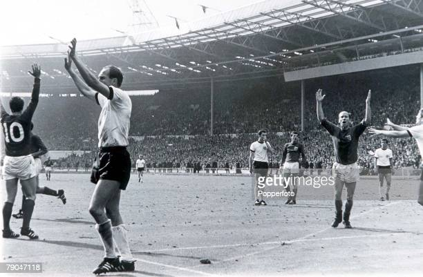 World Cup Final Wembley England 30th July 1966 England 4 v West Germany 2 England's controversial third goal scored by Geoff Hurst England's Geoff...