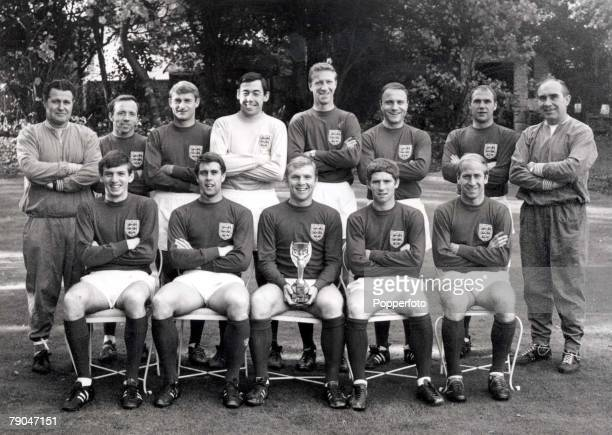 World Cup Final Wembley England 30th July 1966 England 4 v West Germany 2 World Champions England with the World Cup trophy Back row LR Harold...