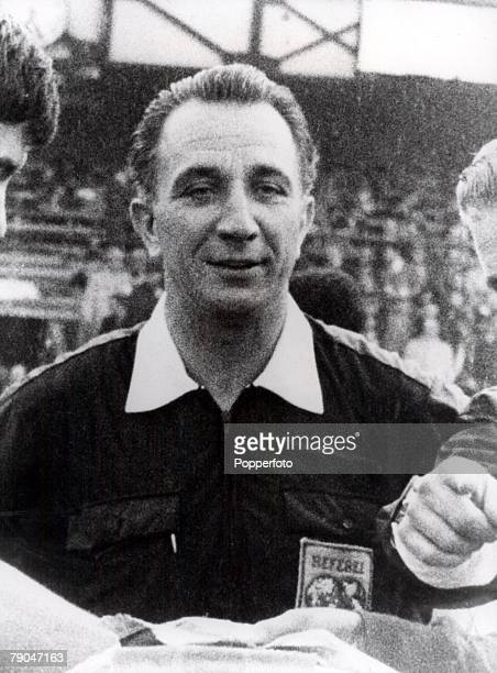 World Cup Final Wembley England 30th July 1966 England 4 v West Germany 2 Swiss referee Gottfried Dienst who officiated the 1966 World Cup Final