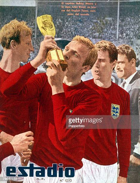 World Cup Final Wembley England 30th July 1966 England 4 v West Germany 2The cover of Chile's 'Estadio' magazine shows England captian Bobby Moore...