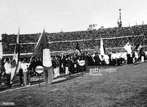 World Cup Finals 1930 Montevideo Uruguay 18th July The opening of the Centenary Stadium in Montevideo Although the tournament began on July 13ththe...