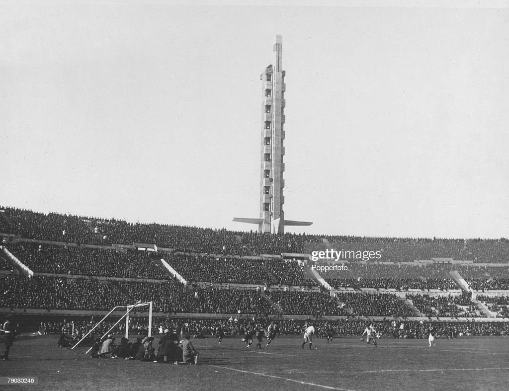 World Cup Finals 1930, Uruguay, Montevideo, Argentina 6 v Mexico 3, The Centenary Stadium, Montevideo, which had been officially opened the previous day