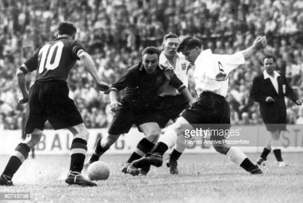 World Cup Finals 1954 Basle Switzerland England 4 v Belgium 4 17th June Action during the Group 4 match