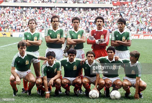 World Cup Finals Azteca Stadium Mexico 11th June Mexico 1 v Iraq 0 The Mexico team pose for a group photograph before the match