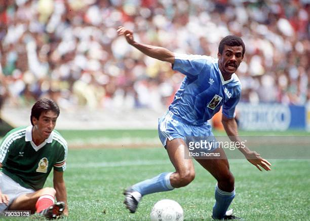 World Cup Finals Azteca Stadium Mexico 11th June Mexico 1 v Iraq 0 Iraq's Shihab on the ball