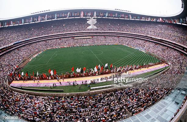 World Cup Finals Azteca Stadium Mexico 31st May Opening Ceremony A general view of the Azteca Stadium stadium showing the vast crowd during the...