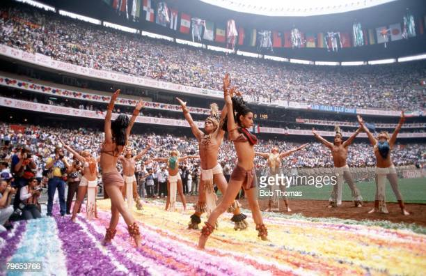 World Cup Finals Azteca Stadium Mexico 31st May Opening Ceremony Colourful dancers perform in the Azteca Stadium during the ceremony