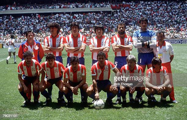 World Cup Finals Azteca Stadium Mexico 7th June Mexico 1 v Paraguay 1 The Paraguay team pose for a group photograph before the match