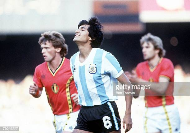 World Cup Finals Barcelona Spain 13th June Argentina 0 v Belgium 1 Argentina's Ramon Diaz