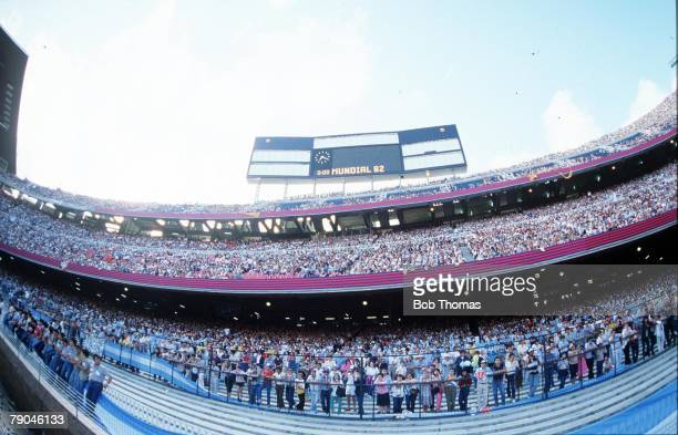World Cup Finals Barcelona Spain 13th June The packed stands of the Nou Camp stadium at the Opening Ceremony