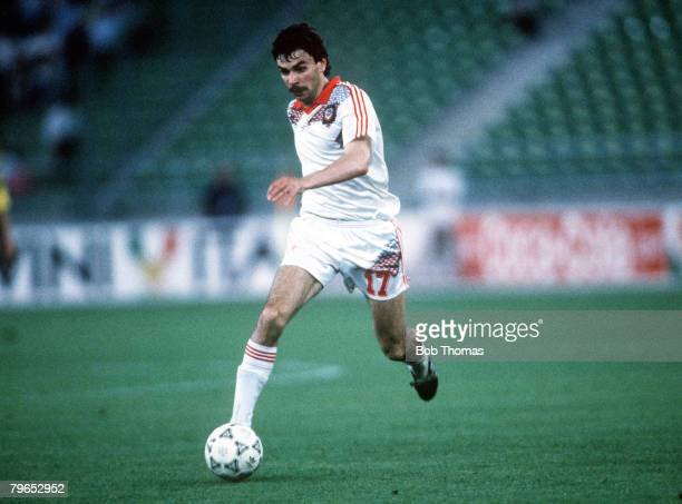 World Cup Finals Bari Italy 18th June USSR 4 v Cameroon 0 USSR'S Andrei Zygmantovich on the ball