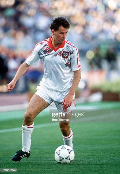 World Cup Finals Bari Italy 9th June Romania 2 v USSR 0 USSR's Gennadi Litovchenko