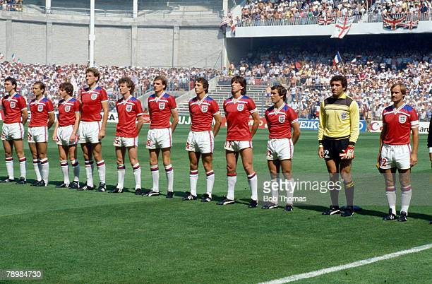 World Cup Finals Bilbao Spain 16th June England 3 v France 1 England team lineup leftright Bryan Robson Ray Wilkins Steve Coppell Terry Butcher...