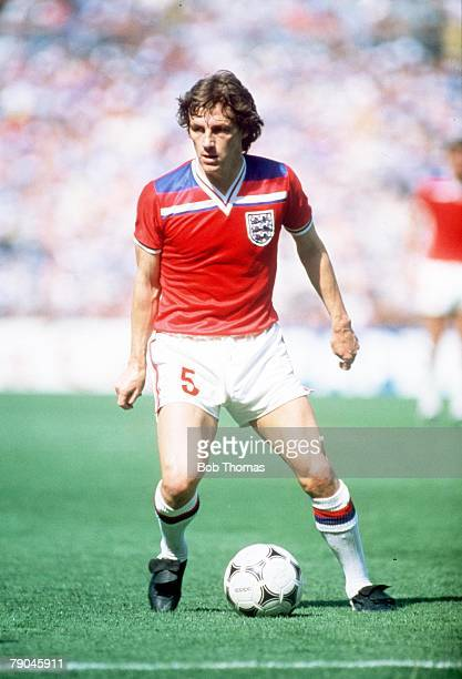World Cup Finals Bilbao Spain 16th June England 3 v France 1 England's Steve Coppell