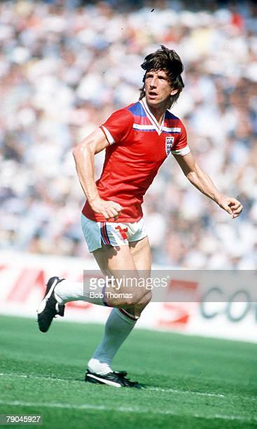 World Cup Finals Bilbao Spain 16th June England 3 v France 1 England's Paul Mariner