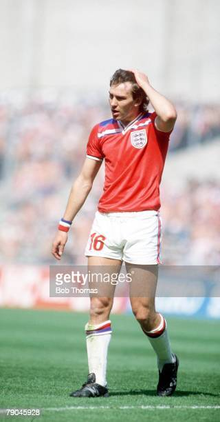 World Cup Finals Bilbao Spain 16th June England 3 v France 1 England's Bryan Robson
