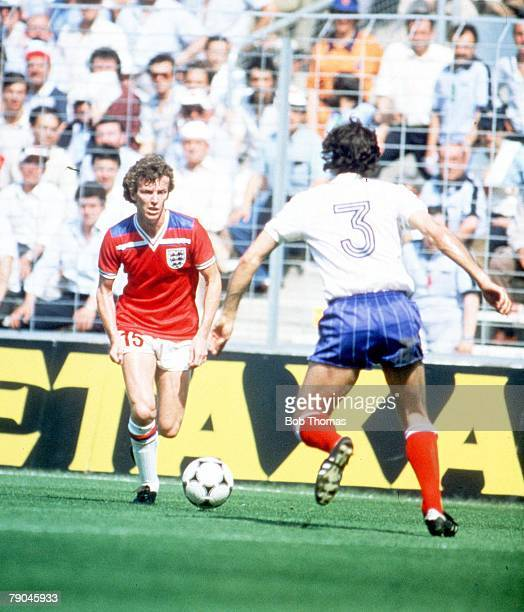 World Cup Finals Bilbao Spain 16th June England 3 v France 1 England's Graham Rix is faced by France's Patrick Battiston