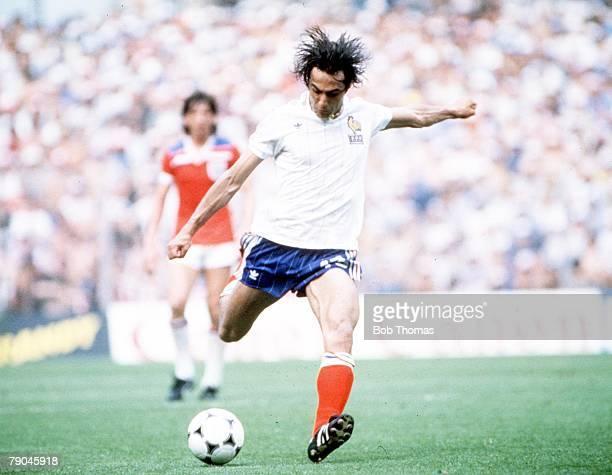 World Cup Finals Bilbao Spain 16th June England 3 v France 1 France's Jean Francois Larios