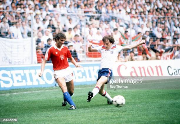 World Cup Finals Bilbao Spain 20th June England 2 v Czechoslovakia 0 England's Steve Coppell is beaten Czechoslovakia's Jan Fiala