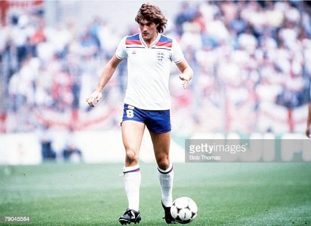 World Cup Finals, Bilbao, Spain, 20th JUne England 2 v Czechoslovakia 0, England's Glenn Hoddle