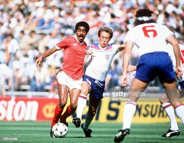 World Cup Finals Bilbao Spain 25th June England 1 v Kuwait 0 England's Phil Neal challenges Kuwait's Al Suwayed