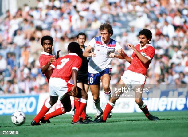 World Cup Finals Bilbao Spain 25th June England 1 v Kuwait 0 England's Trevor Francis surrounded by Kuwait's LR Al Suwayed Manboud Jomah and Mayoof