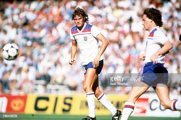 World Cup Finals, Bilbao, Spain, 25th June England 1 v Kuwait 0, England's Glenn Hoddle