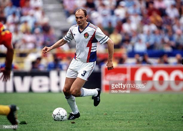 World Cup Finals Bologna Italy 14th June Yugoslavia 1 v Colombia 0 Yugoslavia's Pedrag Spasic