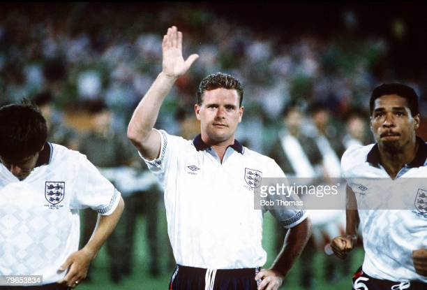 World Cup Finals Cagliari Italy 11th June England 1 v Republic Of Ireland 1 England's Paul Gascoigne