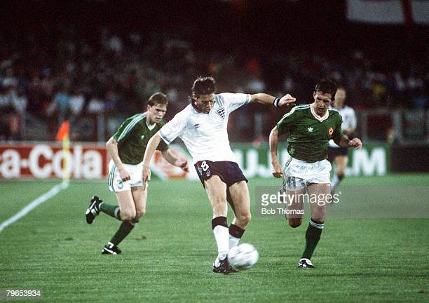 World Cup Finals Cagliari Italy 11th June England 1 v Republic Of Ireland 1 England's Chris Waddle crosses the ball