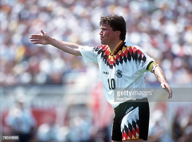 World Cup Finals Chicago USA 17th June Germany 1 v Bolivia 0 Lothar Matthaus Germany