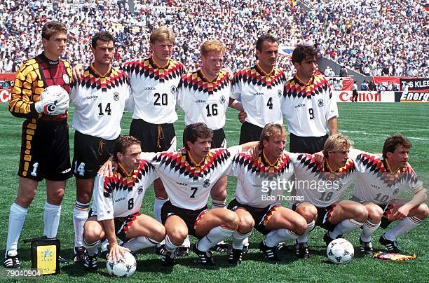 World Cup Finals Chicago USA 17th June Germany 1 v Bolivia 0 The German team group before the tournament's opening match at Soldier Field