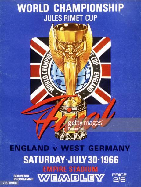 World Cup Finals England 1966 World Cup Final front cover of the official Wembley match programme