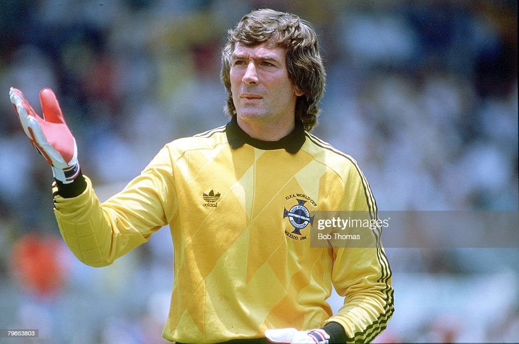 1986 World Cup Finals, Guadalajara, Mexico, 3rd June 1986, Algeria 1 v Northern Ireland 1, Northern Ireland's goalkeeper Pat Jennings : News Photo