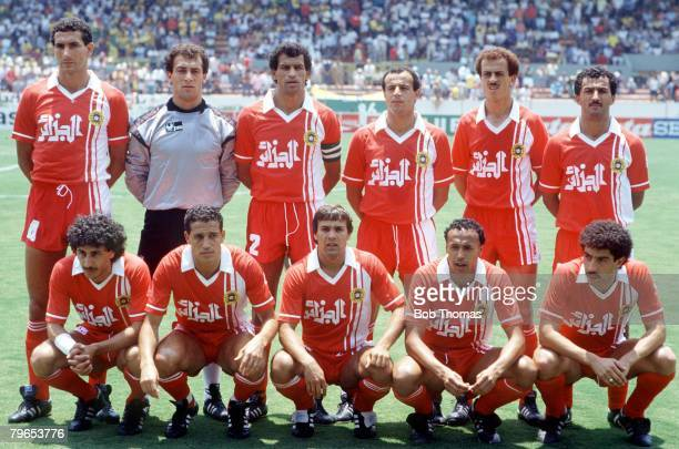 World Cup Finals Guadalajara Mexico 3rd June 1986 Algeria 1 v Northern Ireland 1 The Algerian team line up before the match