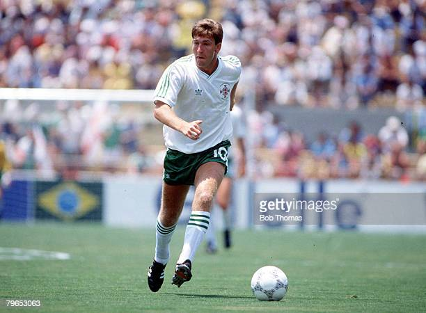 World Cup Finals Guadalajara Mexico 3rd June Algeria 1 v Northern Ireland 1 Northern Ireland's Norman Whiteside on the ball