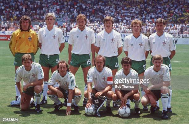 World Cup Finals Guadalajara Mexico 3rd June Algeria 1 v Northern Ireland 1 Northern Ireland pose for a team group before the match