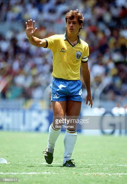 World Cup Finals Guadalajara Mexico 6th June Brazil 1 v Algeria 0 Brazil's Edinho