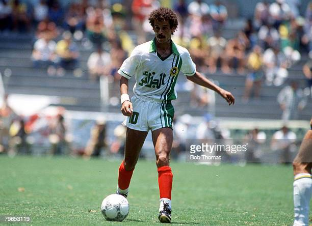World Cup Finals Guadalajara Mexico 6th June Brazil 1 v Algeria 0 Algeria's Lakhdar Belloumi on the ball