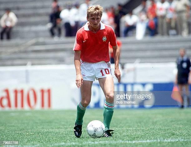 World Cup Finals Irapuato Mexico 2nd June USSR 6 v Hungary 0 Hungary's Lajos Detari