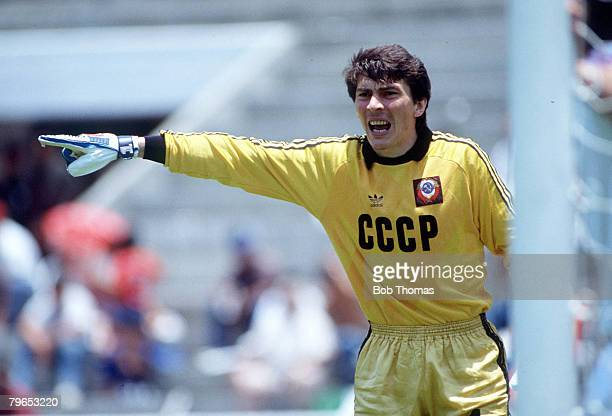 World Cup Finals Irapuato Mexico 2nd June USSR 6 v Hungary 0 USSR's goalkeeper Rinat Desaev
