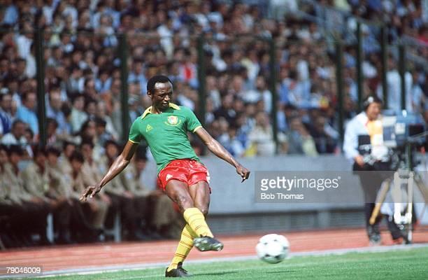 World Cup Finals La Coruna Spain 19th June Poland 0 v Cameroon 0 Cameroon's Michal Kaham