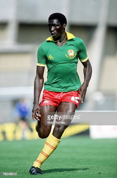 World Cup Finals La Coruna Spain 19th June Poland 0 v Cameroon 0 Cameroon's Ibrahim Aoudou