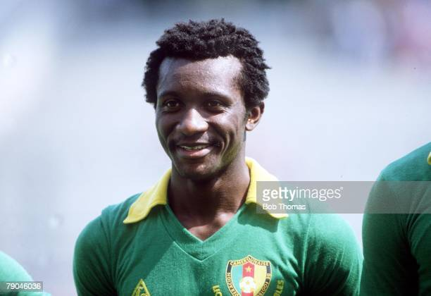 World Cup Finals La Coruna Spain 19th June Poland 0 v Cameroon 0 Cameroon's Gregoire Mbida