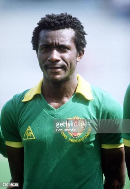 World Cup Finals La Coruna Spain 19th June Poland 0 v Cameroon 0 Cameroon's Gregoire Mbida