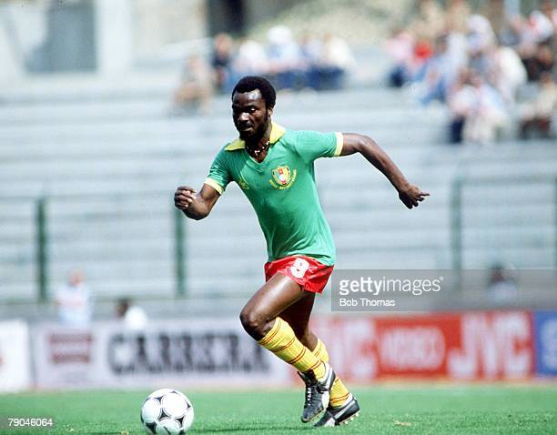 World Cup Finals La Coruna Spain 19th June Poland 0 v Cameroon 0 Cameroon's Roger Milla
