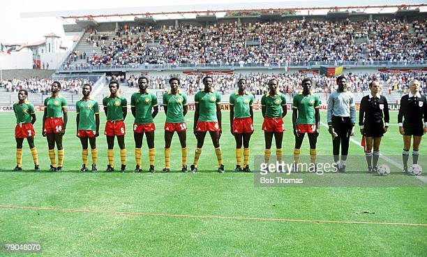 World Cup Finals La Coruna Spain 19th June Poland 0 v Cameroon 0 Cameroon's starting lineup