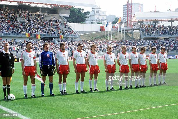 World Cup Finals La Coruna Spain 19th June Poland 0 v Cameroon 0 Poland's starting lineup